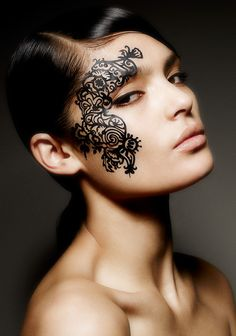 Fantasy Face Lace by Phyllis Cohen.