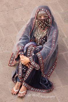 A modern bridal dress in the style of the Yemeni Jews.