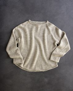 Free Pattern! Lightweight Raglan Pullover