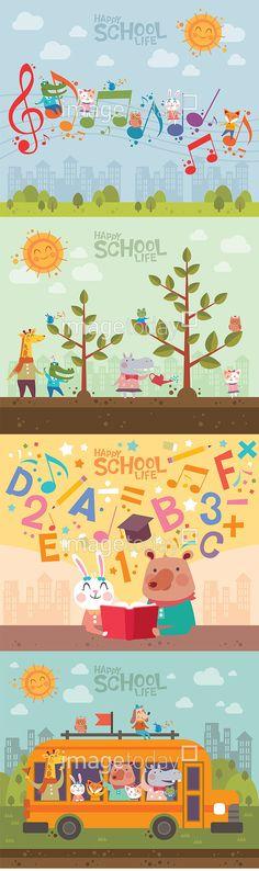 일러스트 #이미지투데이 #imagetoday #클립아트코리아 #clipartkorea #통로이미지 #tongroimages 고양이 교육 음표 동물 백그라운드 배경 부엉이 악어 여우 토끼 플랫디자인 음악 나무 곰 버스 스쿨버스 기린 cat education note animal background owl crocodile fox rabbit flatdesign music tree bear bus school bus giraffe illust illustration