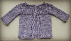 Little Lilac Baby Sweater