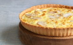 Who could resist a rich fish tart on a summer's day?