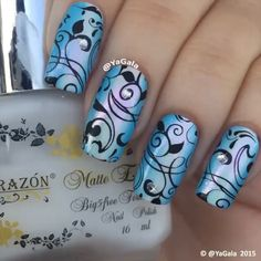 """One-stroke gradient + stamping by @yagala """