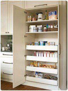 Hidden pantry door I like how the door swings in Home Cabinets