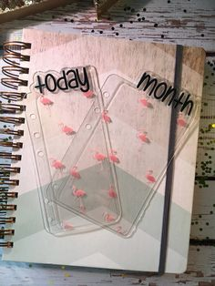 Today/Month Clear Flamingos Planner Tab