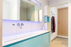 Antoniolupi Panta Rei glossy turquoise bathroom furniture
