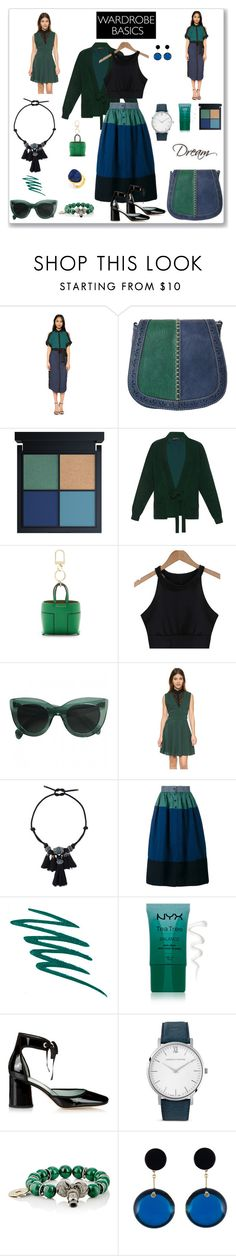 """""""Blue & Green"""" by ludmyla-stoyan ❤ liked on Polyvore featuring Ohne Titel, Haider Ackermann, Tory Burch, The Kooples, Lanvin, Visvim, Stila, NYX, Marc Jacobs and Larsson & Jennings"""