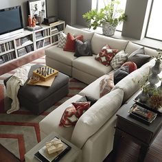 Beckham L-Shaped Sectional by Bassett Furniture is a transitional modular sectional with endless possibilities.