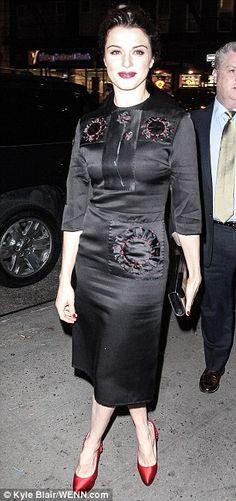 Rachel Weisz in Prada dress, Charlotte Olympia shoes - New York Film Critics Circle Awards.  (January 2013)