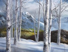 Have you ever wanted to paint birch trees? Watch Kevin show you how to paint birch trees in this snowy winter painting. For more painting tipps, go to www. Winter Landscape, Landscape Art, Landscape Paintings, Watercolor Paintings, Forest Landscape, Nature Paintings, Painting Abstract, Acrylic Paintings, Kevin Hill Paintings