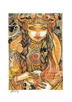 Byzantine - Fantasy - Original Watercolor Illustration by Natalia Pierandrei