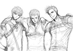 The Maze Runner - Newt Thomas Minho by Haitest.deviantart.com on @deviantART