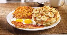 NEW! Salted Caramel & Banana Cream Pancakes - Denny's