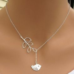 Chic Women's Leaf Bird Pendant Necklace (AS THE PICTURE) in Necklaces | DressLily.com