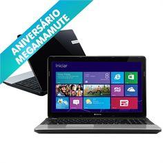 "Notebook Intel Core i3-2348M 2.30 GHz 2GB 500GB LED 15,6"" Windows 8 NE56R12B GATEWAY :"