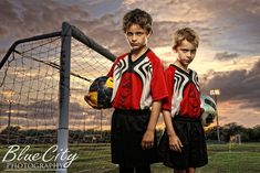 soccer portraits - brothers
