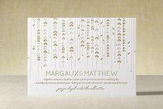 """WILLOW TREE"" - Rustic, Modern Letterpress Wedding Invitations in Grass by sweet street gals."