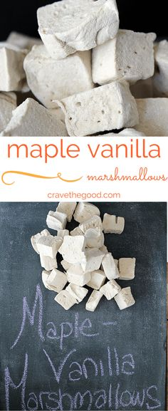 marshmallows This vanilla marshmallow recipe produces such a light, springy marshmallow that is great plain, and also roasts over the fire in s'mores like a dream! Marshmallow Treats, Marshmallow Creme, Candy Recipes, Baking Recipes, Dessert Recipes, Gelatin Recipes, Mini Desserts, Flavored Marshmallows, Deserts