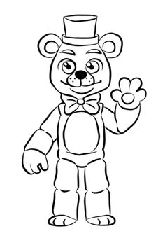 FNAF Golden Freddy Coloring Page From Five Nights At Freddys Category