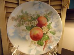 Vintage COLLECTIBLE PLATE with Peach by VintageCreativeAccen, $10.00