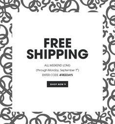 Free shipping through September 1. Shop now.