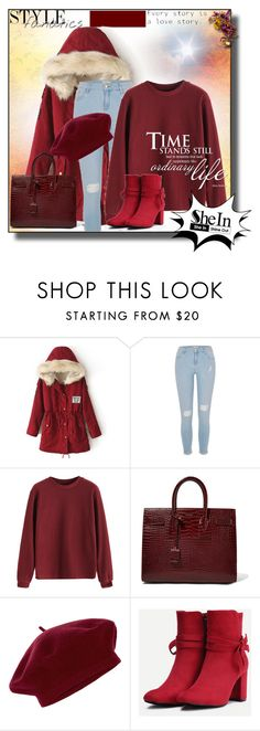 """SheIn  6"" by miincee ❤ liked on Polyvore featuring River Island, Yves Saint Laurent and Accessorize"