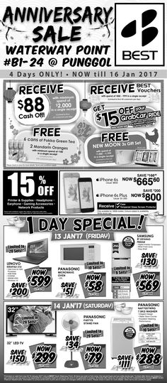 The Straits Times - 13 January 2017 -  Anniversary Sale @ Waterway Point
