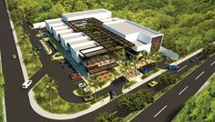 Nueva Plaza Mangus Retail Architecture, Landscape Architecture, Mall Design, House Design, Commercial Center, Strip Mall, Contemporary Building, Shopping Malls, Booth Design