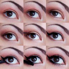 Classic winged eyeliner look created by blogger Joanna. #cateyemakeup #lumene