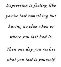 .I have dealt with depression my whole life, of course I think of BPD and Depression as going hand in hand.