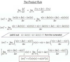 Differential Calculus – The Rules of Differentiation:
