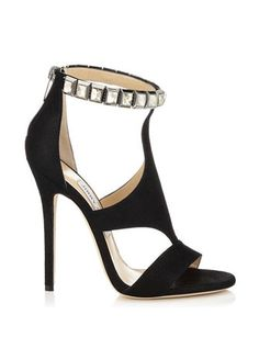 JIMMY CHOO Halo Suede Sandals