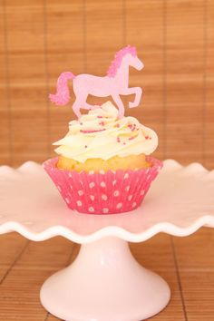 13 EDIBLE Pink Horse Cowgirl Pony Cupcake Cookie Toppers- Edible Cowgirl Party Decoration
