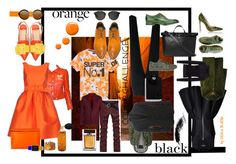 """""""#colorchallenge  #orangeandblack"""" by dominique-boiche ❤ liked on Polyvore featuring Topshop, Superdry, Courrèges, P.A.R.O.S.H., Marsèll, Dolce&Gabbana, Armani Collezioni, LE3NO, George Cleverley and Express"""