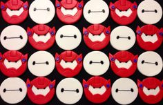 Big hero 6 Baymax fondant cupcake toppers www.facebook.com/ohmygorgeouscakes