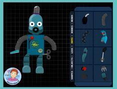 Maak je eigen robot op digibord of computer, thema 'Raar, maar waar!' kinderboekenweek 2015 op kleuteridee