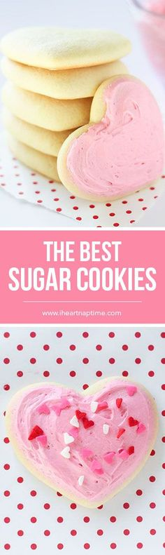These super soft sugar cookies are a tried and true recipe. They work great with cookie cutters and bake nice and fluffy. Best served with buttercream!