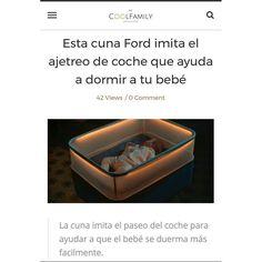 """NUEVA ENTRADA EN EL BLOG """"Ford crea una cuna que imita el ajetreo del coche y lo ayuda a dormir."""" """"Ford creates a crib that mimics the hustle of the car and helps it sleep."""""""