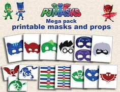 Instand DL PJ Masks Printable masks mega peck by foxisgone