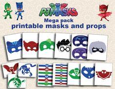 Instand DL PJ máscaras imprimibles máscaras mega por foxisgone
