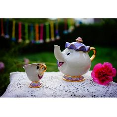 """Limited Edition - """"Mrs Potts & Chip"""" Tea Pot & Cup - Beauty And The Beast"""