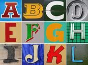 Letters to download and use for letter art - for free! non commercial