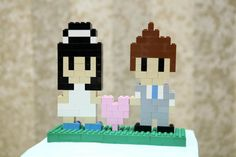 Make an 8-bit cake topper out of LEGO (Hey, that's my wedding!)