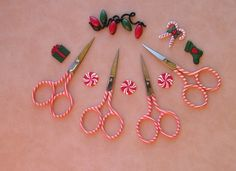 Premax Italy made scissors Limited Edition, Candy Cane.