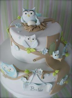 owl cake - cute!