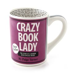 Amazon.com: Enesco Our Name is Mud by Lorrie Veasey Crazy Book Lady Mug, 16-Ounce: Kitchen & Dining