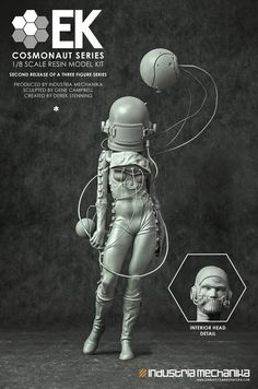 ArtStation - EK Cosmonaut 02 - Resin Model Kit, Derek Stenning