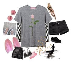 """""""i love to sketch"""" by ode-to-sleeep ❤ liked on Polyvore featuring Forever 21, Kiss The Sky, Moschino, Victoria's Secret and DRKSHDW"""