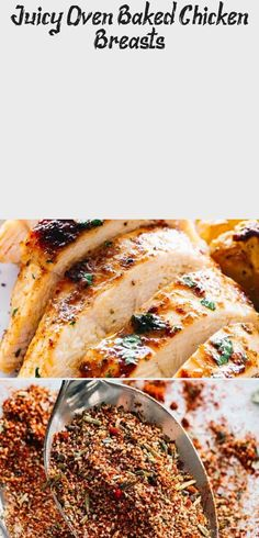 Simple and easy method for how to make perfectly juicy and deliciously seasoned oven baked chicken breasts. Chicken Recipes Juicy, Crispy Baked Chicken Thighs, Juicy Baked Chicken, Baked Greek Chicken, Crispy Oven Baked Chicken, Baked Chicken Breast, Chicken Breasts, Greek Chicken Thigh Recipe, Simple