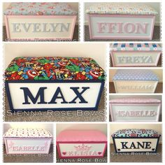 Childrens Personalised toy box/bench